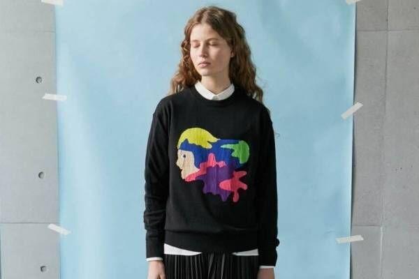 """フラボア""""クレパス""""で描いたグラフィックのTシャツやワンピース、イラストレーターとコラボ"""