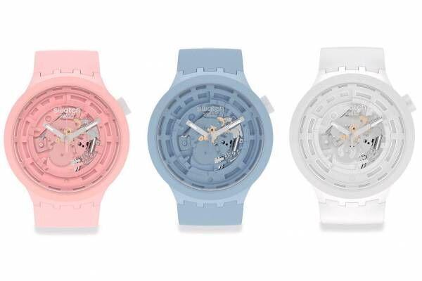 スウォッチの新作腕時計「ビッグボールド バイオセラミック」バイオ由来の新素材、くすみカラー全5色で