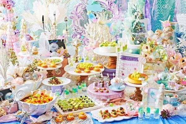 『人魚姫』の世界×メロンスイーツビュッフェ「マーメイド ラグーン」ザ ストリングス 表参道で