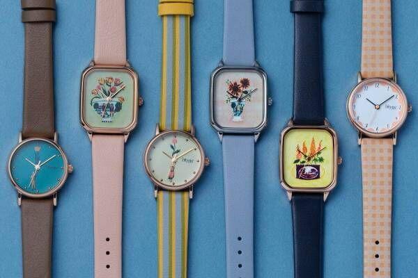 チックタック×ポーリー・ファーンの腕時計 - フェイスとベルトを自由に付け替え、手元にアートな彩りを