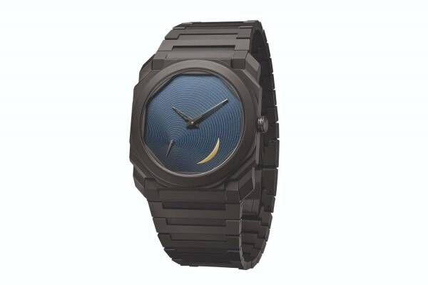ブルガリ×安藤忠雄コラボ腕時計「オクト フィニッシモ」第2弾、ゴールドの三日月が輝く螺旋ダイアル