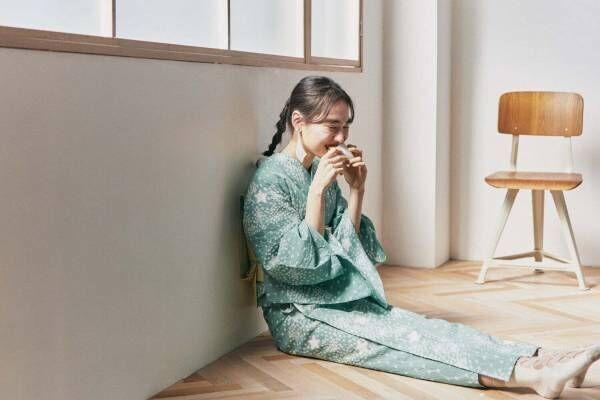 """キモノ バイ ナデシコ新作 - 涼やかな絞りのゆかたや""""洗える""""夏きもの、和菓子モチーフの帯留も"""