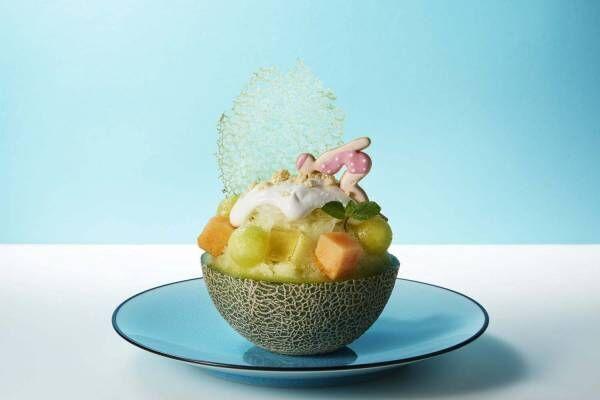 シャングリ ラ ホテル東京の夏限定メニュー、100%メロンジュースで作った贅沢かき氷など
