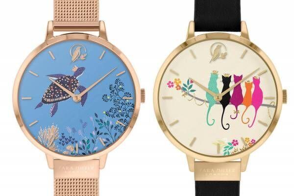 サラミラーロンドンの新作腕時計、海のいきもの&仲良し猫をデザイン