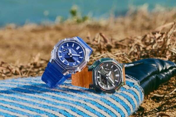 G-SHOCK新作腕時計、鮮やかカラーの薄型スケルトンウオッチなど3型
