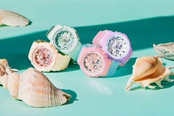 "BABY-G""パステルカラー""の新作腕時計、涼し気スケルトンやマット調ミントグリーン"