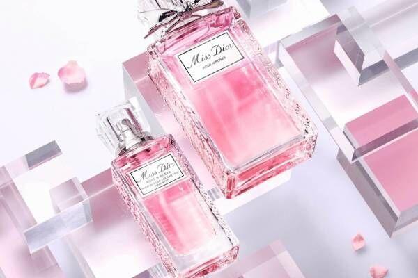 """ディオール人気香水「ミス ディオール ローズ&ローズ」がヘアミストに、摘みたての""""バラの花束""""の香り"""