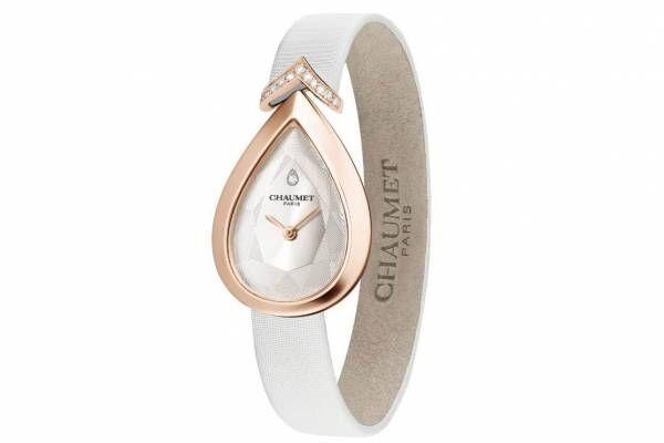 ショーメの腕時計「ジョゼフィーヌ」に新作、ホワイトサテンストラップ×輝くダイヤモンド