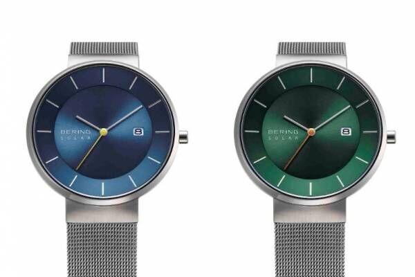 """ベーリング""""日本&デンマークの自然""""着想の腕時計、海面を照らす月明かりイメージの秒針"""