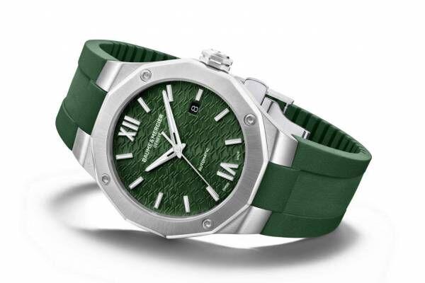 ボーム&メルシエの腕時計「リビエラ」新作、ウェーブ装飾を施したグリーンダイヤル
