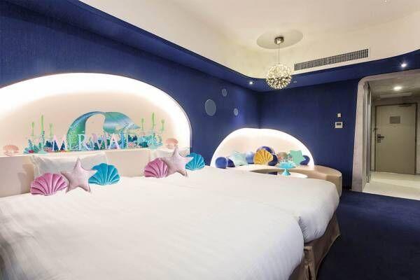 東京ベイ東急ホテル「マーメイドルーム」マーメイドが住む海の世界をイメージした限定客室