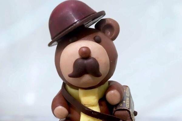 """アトリエ ドゥ ゴディバ、ネクタイ&鞄を身に着けた""""クマ""""を模った父の日限定チョコレート"""