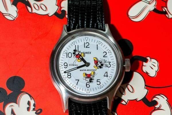 """タイメックスとビームス ボーイ""""くるくると回る""""ディズニー/ミッキーマウスデザインの腕時計"""