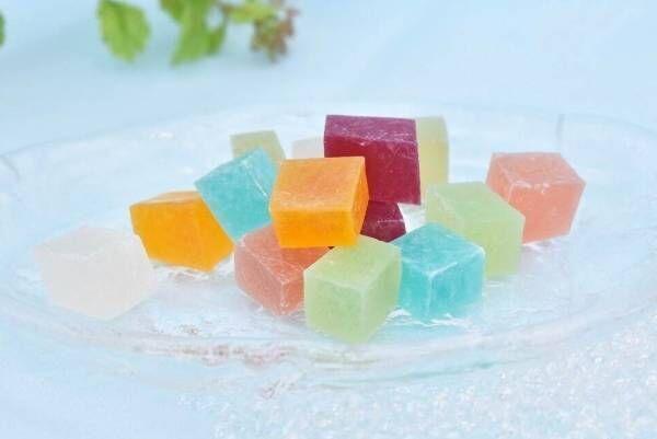 """夏の和菓子「琥珀糖」""""花火""""から着想した7種の限定味が鎌倉紅谷で、ミントやラムネなど"""