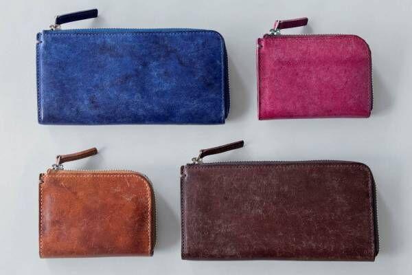 土屋鞄製造所、夏カラーの限定コンパクト財布&大容量長財布 - ヴィンテージ調イタリアンレザーで