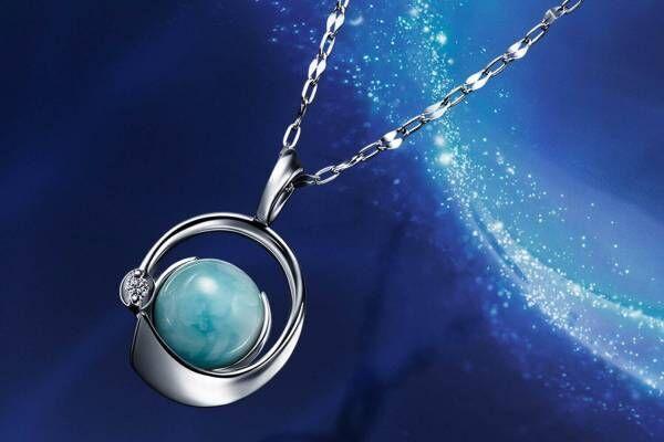 スタージュエリー「オーシャニック」限定ネックレス、K18WG×ラリマー×ダイヤモンドの上質モデル