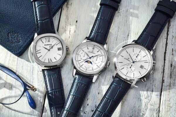 オロビアンコ限定腕時計、爽やかなホワイトダイヤル×ネイビーバンドのクロノグラフなど