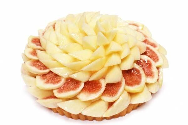 """カフェコムサの""""桃""""ケーキ&パフェ、桃×いちじくの鮮やかなケーキやチェリークリームショート"""