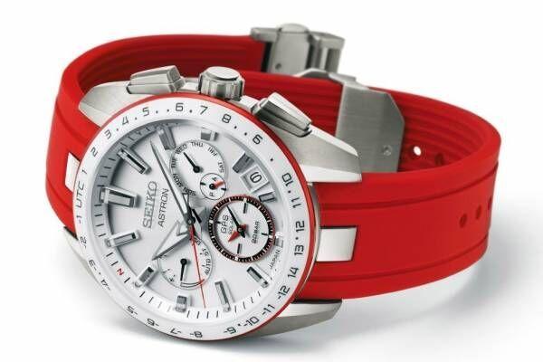セイコー アストロン×国境なき医師団の限定コラボ腕時計、ホワイトセラミックに赤を効かせた2トーン
