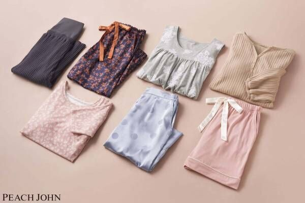 """ピーチ・ジョン""""上下選べる""""人気パジャマに新作、パッド付きTシャツ&2WAYローブワンピ"""