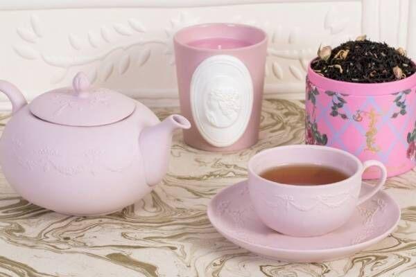ラデュレのお茶専門ブランド「テ by ラデュレ」初の直営店が上野マルイに、バラ色のティーポットなど