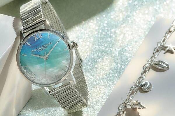 """オリビア・バートンの腕時計「アンダー ザ シー」新作、""""海""""着想のクリスタルが揺れ動く文字盤"""