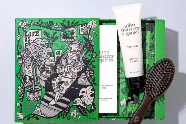 ジョンマスターオーガニック×Chocomooのヘアケアセット、イラスト入りの特別ボックス入り