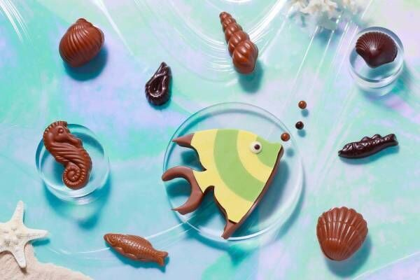 """ジャン=ポール・エヴァン夏限定""""海の生き物""""ショコラ、熱帯魚&タツノオトシゴや貝のチョコなど"""