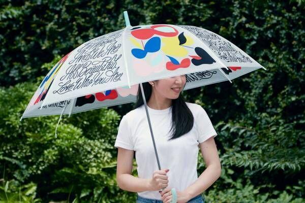 """SHOGO SEKINEのビニール傘が全国ファミマに、カラフル""""りんご""""のポップなデザイン"""