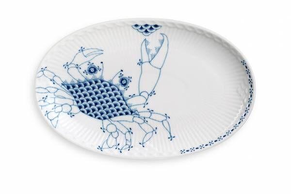 """ロイヤル コペンハーゲン""""水辺のいきもの""""モチーフのテーブルウェア、魚や白鳥を描いて"""
