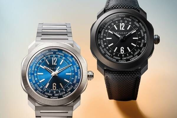 """ブルガリ""""世界を旅する""""腕時計「オクト ローマ ワールドタイマー」24都市の時刻を一目でチェック"""