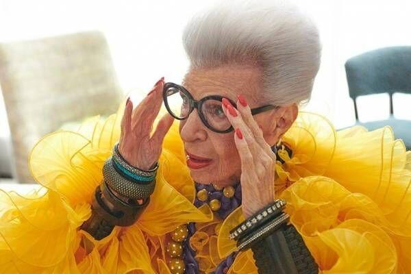 """H&M、100歳を迎える""""ファッションアイコン""""アイリス・アプフェルとのコラボ2022年発売へ"""