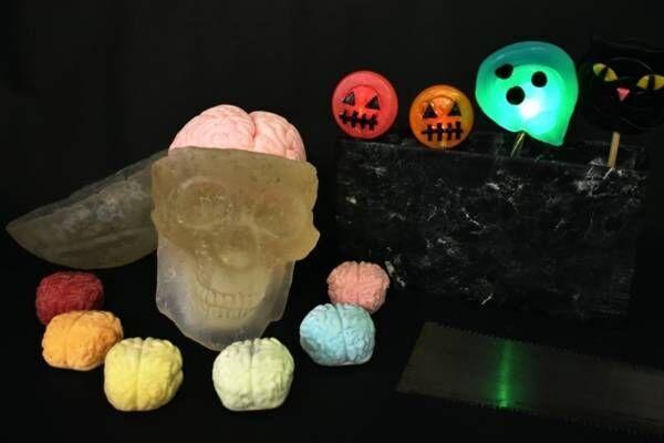 """パパブブレ人気「脳みそマシュマロ」にミントやマスカット風味、""""脳みそ入り""""頭蓋骨キャンディも"""