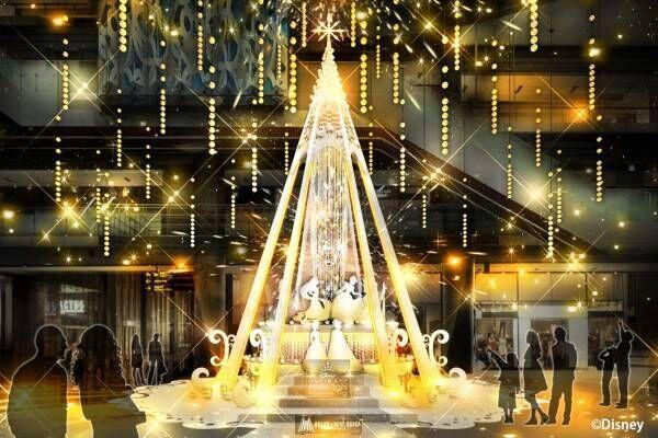 「ディズニープリンセス」が舞い踊るクリスマスツリー&イルミネーション、グランフロント大阪に