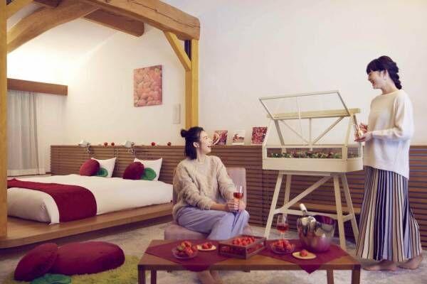 星野リゾート リゾナーレ那須「イチゴフルステイ」朝から晩までイチゴ尽くしの特別宿泊プラン