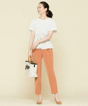夏はオレンジを効かせて明るく見せる☆大人女子のオレンジコーデ15選