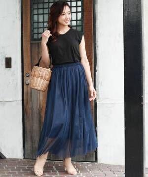 ロング丈スカートが可愛いすぎる♡この夏おしゃれ見えする旬の着こなし方は?