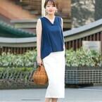 ホワイト系デニムスカートを着回す☆大人きれいめ&カジュアルな爽やかコーディネート15選