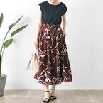 柄物はスカートで取り入れるのがおすすめ♡花柄&ボタニカル柄スカートの大人かわいいコーデ集