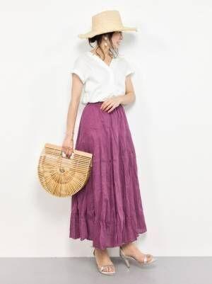 夏はやっぱりスカートが履きたい!今オススメのスカートとコーディネートをご紹介♡