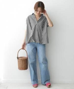 最旬『チェックシャツ・ブラウス』コーデを総まとめ♡着回し力抜群でこの夏も大活躍!