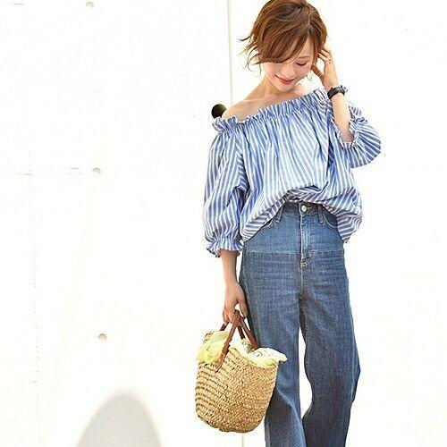 最旬・ストライプシャツコーデ集♡定番から個性派まで、トレンドアイテムを総まとめ!