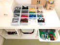 シンプルインテリアに◎無印良品のアイテムでスッキリとしたおもちゃ収納を実現