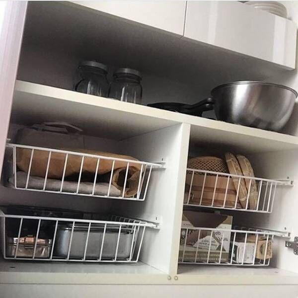 キッチングッズをもっと使いやすく置くワザ☆見せるも隠すもアリの収納実例集!
