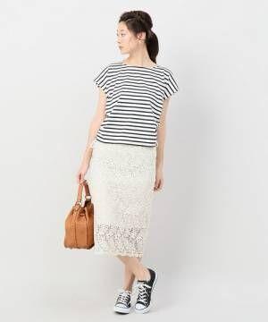 ホワイト系レーススカートはタイトシルエットがベスト!大人のしなやかさを演出するコーデ集