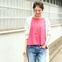 パッと華やぐ大人可愛さはピンクで♡夏のピンクトップスコーデ15選
