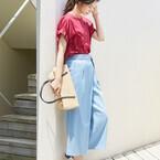 大人女性のきれいめカジュアルは涼しげ素材で♡リネンMIXパンツの夏スタイル15選