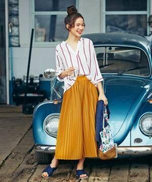 スカート見えするスカンツで夏スタイルを満喫☆ラフに着こなすリラックスコーデ集!