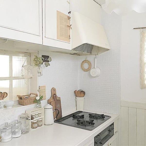 真っ白が気持ちいい♪おしゃれなホワイトキッチンの実例をご紹介