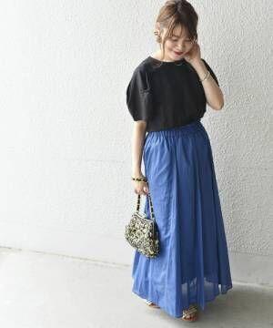 ロングスカートで作る♡この夏おすすめのおしゃれな華やぎコーデ15選